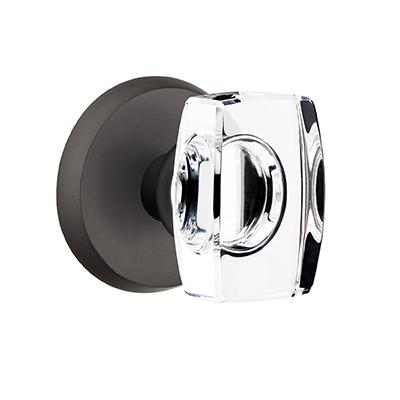 Emtek Bronze Windsor Crystal Door Knob Set