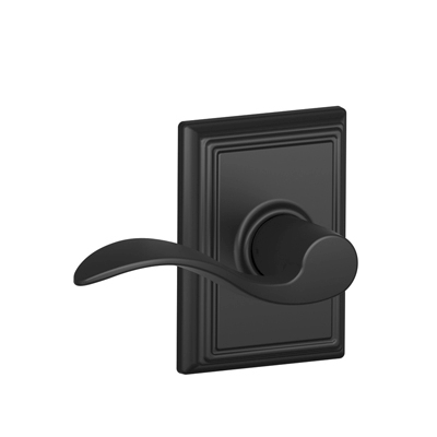 Schlage Accent Lever with Addison Decorative Rose in Matte Black