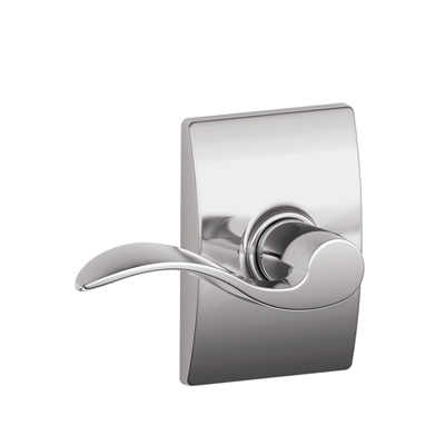 Schlage F10ACC625CEN Accent Passage Door Lever Set with Century Rose