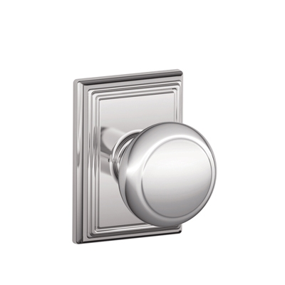 Schlage F10AND625ADD Andover Passage Door Knob Set with Addison Rose
