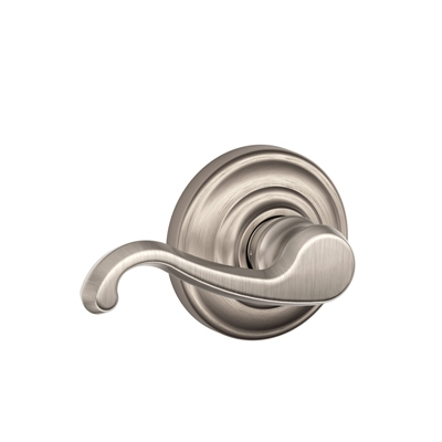 Schlage Callington Lever with Andover Decorative Rose in Satin Nickel