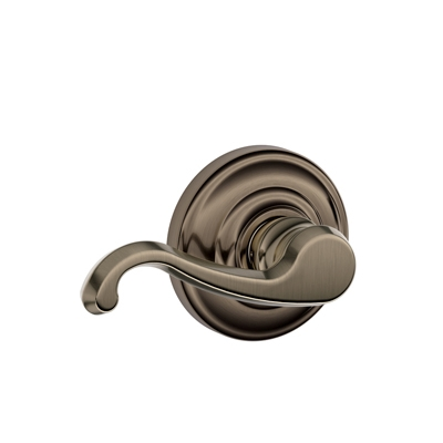 Schlage Callington Lever with Andover Decorative Rose Antique Pewter