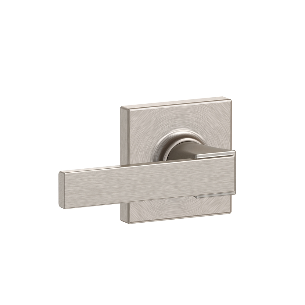 Schlage F10-NBK-COL Northbrook Passage Door Lever Set with Collins Rose