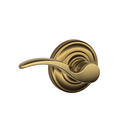 Schlage F10STA609AND St. Annes Passage Door Lever Set with Andover Rose