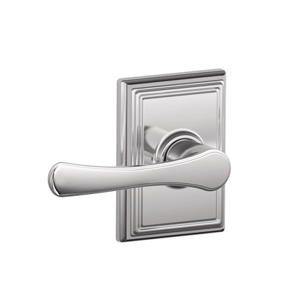 Schlage F1VLA625ADD Avila Passage Door Lever Set with Addison Rose