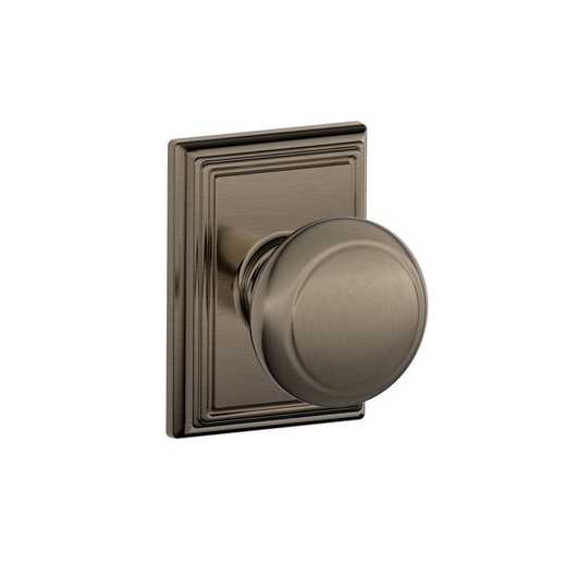 Schlage F10AND620ADD Andover Passage Door Knob Set with Addison Rose