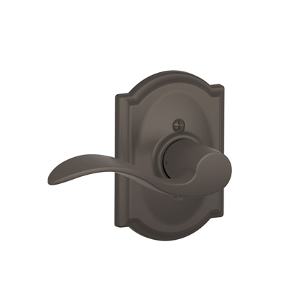 Schlage F170ACC613CAM Accent Single Dummy Door Lever Set with Camelot Rose