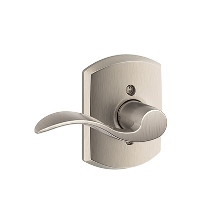 Schlage F170ACC619GRW Accent Single Dummy Door Lever Set with Greenwich Rose