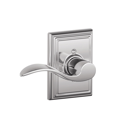 Schlage Accent Lever with Addison Decorative Rose Bright Chrome (625)