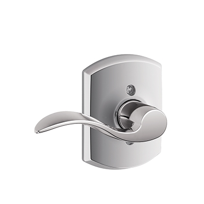 Schlage F170ACC625GRW Accent Single Dummy Door Lever Set with Greenwich Rose