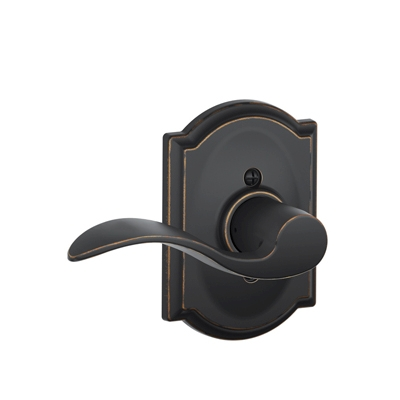 Schlage F170ACC716CAM Accent Single Dummy Door Lever Set with Camelot Rose