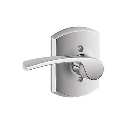 Schlage F170MER625GRW Merano Single Dummy Door Lever Set with Greenwich Rose