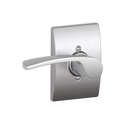 Schlage Merano Lever with Century Decorative Rose Satin chrome