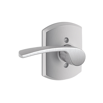 Schlage F170MER626GRW Merano Single Dummy Door Lever Set with Greenwich Rose