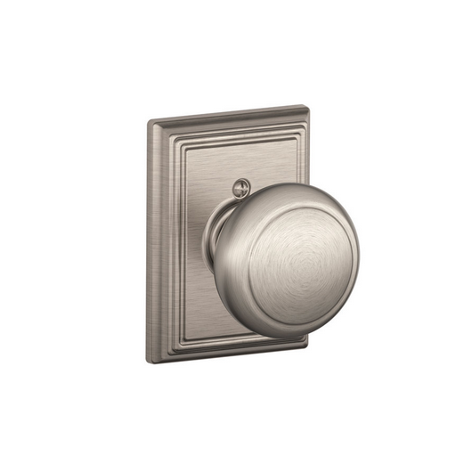 Schlage F170AND619ADD Andover Single Dummy Door Knob with Addison Rose