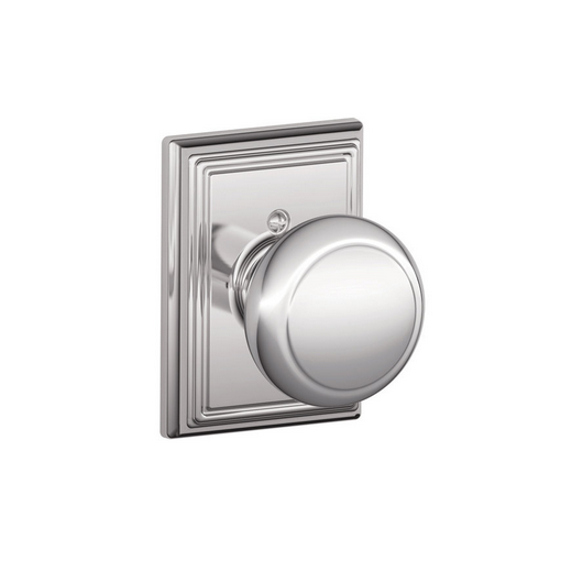 Schlage F170AND625ADD Andover Single Dummy Door Knob with Addison Rose