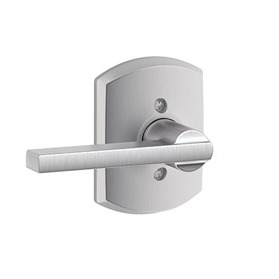 Schlage F17LAT626GRW Latitude Lever with Greenwich Decorative Rose