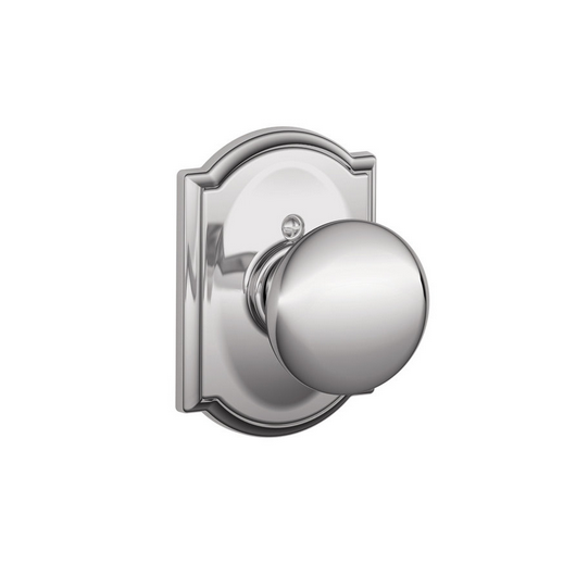 Schlage F170PLY625CAM Plymouth Single Dummy Door Knob with Camelot Rose