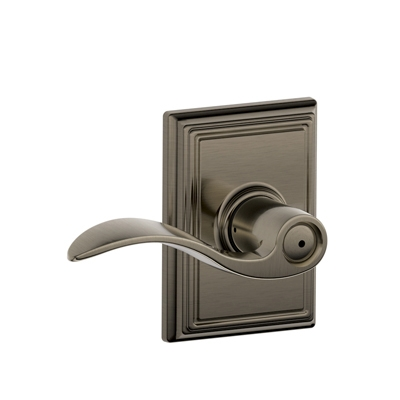 Schlage F40ACC620ADD Accent Privacy Door Lever Set with Addison Rose