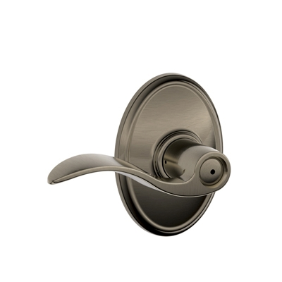 Schlage F40ACC620WKF Accent Privacy Door Lever Set with Wakefield Rose