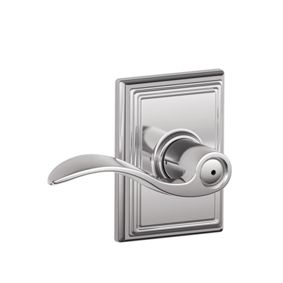 Schlage F40ACC625ADD Accent Privacy Door Lever Set with Addison Rose