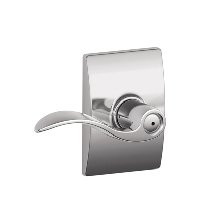 Schlage Accent Lever with Century Decorative Rose Bright Chrome