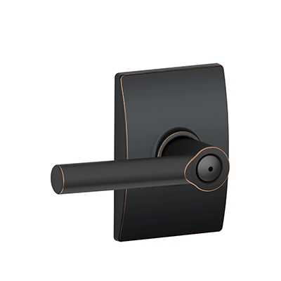 Schlage F40BRW716CEN Broadway Privacy Door Lever Set with Century Rose