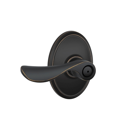 Schlage Champagne Lever with Wakefield Decorative Rose Aged Bronze