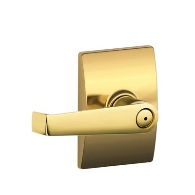 Schlage F40ELA605CEN Elan Privacy Door Lever Set with Century Rose