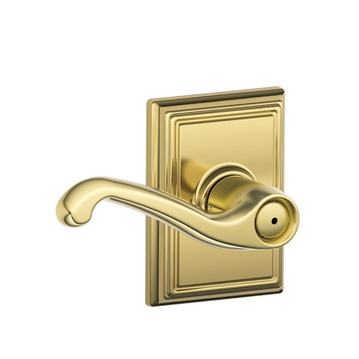 Schlage F40FLA605ADD Flair Privacy Door Lever Set with Addison Rose