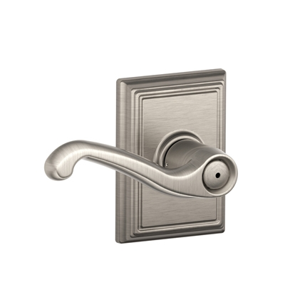 Schlage F40FLA619ADD Flair Privacy Door Lever Set with Addison Rose