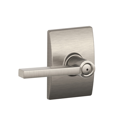 Schlage F40LAT619CEN Latitude Privacy Door Lever Set with Century Rose