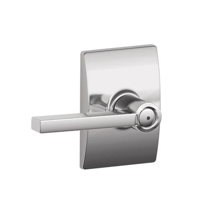 Schlage F40LAT625CEN Latitude Privacy Door Lever Set with Century Rose
