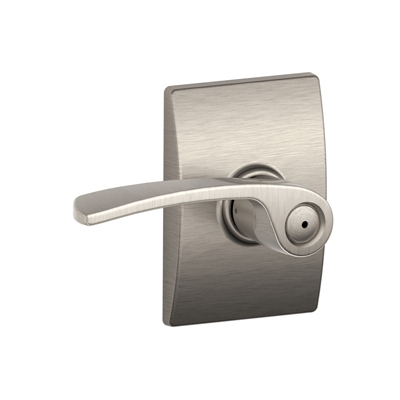 Schlage F40MER619CEN Merano Privacy Door Lever Set with Century Rose