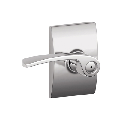 Schlage Merano Lever with Century Decorative Rose Bright Chrome