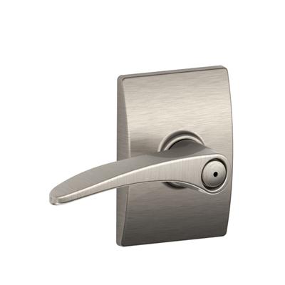 Schlage F40MNH619CEN Manhattan Privacy Door Lever Set with Century Rose