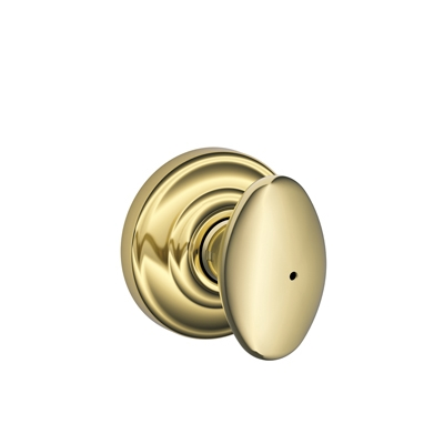 Schlage Siena Knob with Andover Decorative Rose Bright Brass