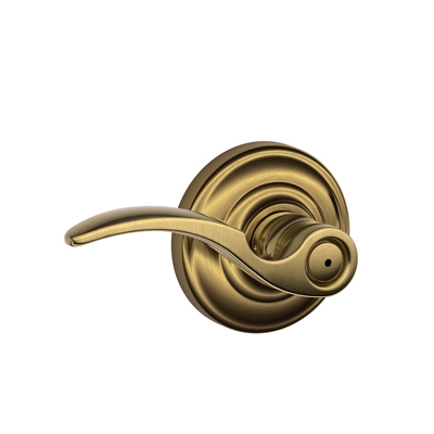 Schlage F40STA609AND St. Annes Privacy Door Lever Set with Andover Rose