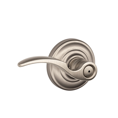 Schlage F40STA619AND St. Annes Privacy Door Lever Set with Andover Rose