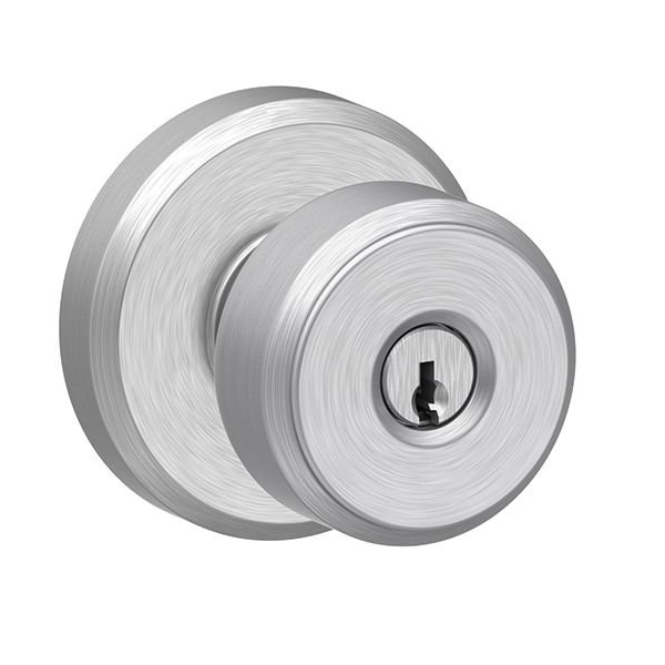 Schlage F51ABWE626GSN Bowery Keyed Entry with Greyson Rose Satin chrome