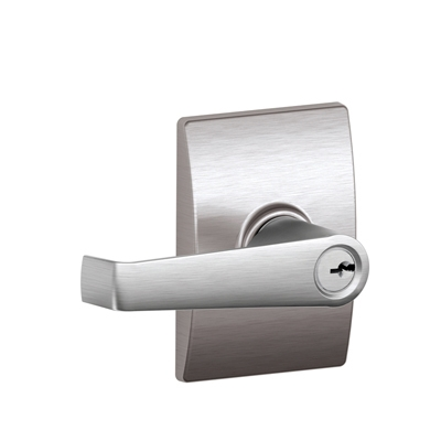 Schlage F51LAT626CEN Latitude Keyed Entry Door Lever Set with Century Rose