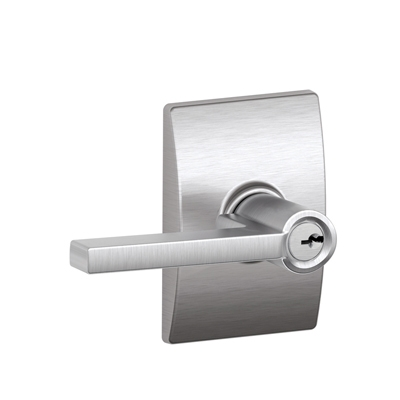 Schlage Latitude Lever With Century Decorative Rose Low