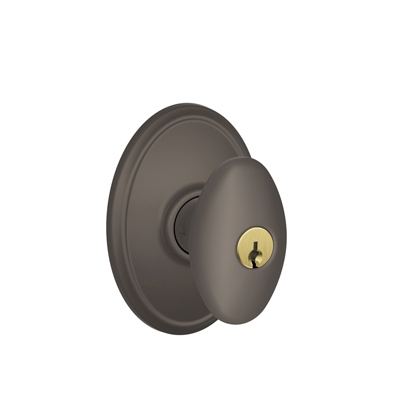 Schlage Siena Knob with Wakefield Decorative Rose Oil Rubbed Bronze
