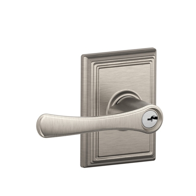 Schlage F51VLA619ADD Avila Keyed Entry Lever Set with Addison Rose