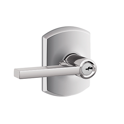 Schlage F51LAT625GRW Latitude Lever with Greenwich Decorative Rose