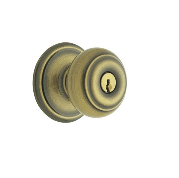 Schlage F80-Geo-609 Storeroom Antique Brass 609