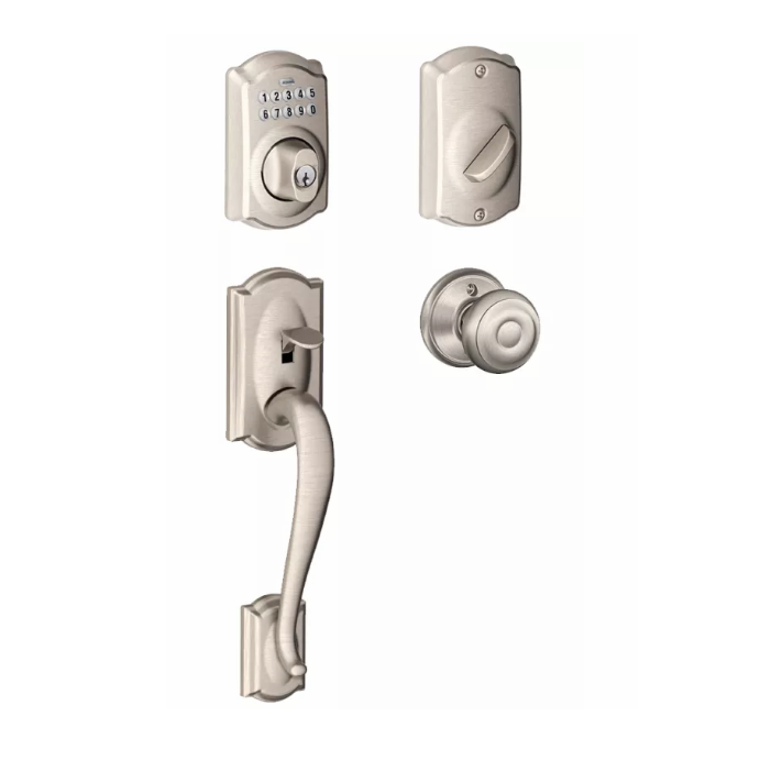 Schlage Camelot Keypad Handleset Low Price Door Knobs