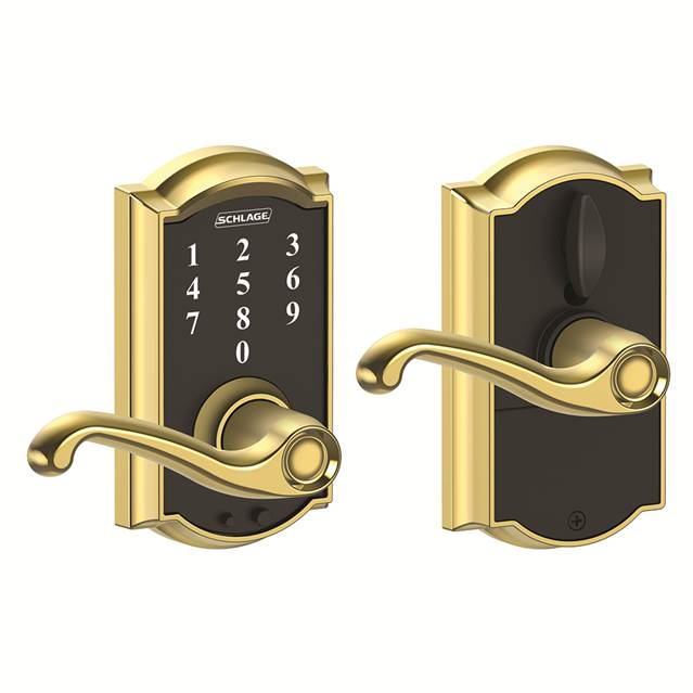 Schlage Fe695 Cam Fla Camelot Touch Entry Lever Set With