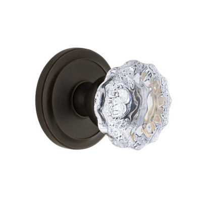 Grandeur Fontainebleau Knob with Circulaire Rose Timeless Bronze (TB)