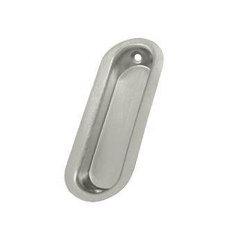 Deltana FP223-15 Oblong Flush Pull Satin Nickel